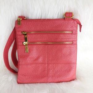 Jaclyn Smith   Coral & Gold Crossbody Handbag